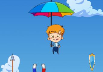 Fiú esernyővel