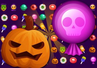 Halloween cukorka leszedős